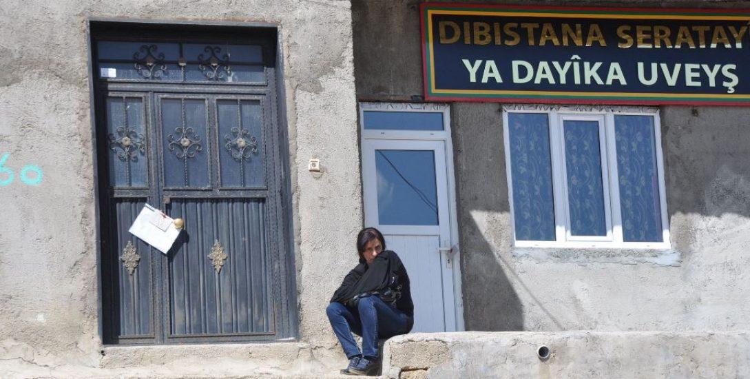 Kürtçe eğitim verdiği için mühürlenen eğitim evi. Foto: Dicle Haber Ajansı