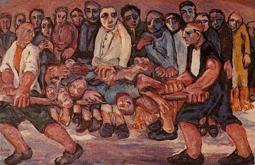 Osman Ahmed - Halepçe'ye Kimyasal Bomba (Tuval üzerine yağlı boya, 100x80cm)